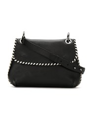 Mara Mac Leather Shoulder Bag Black