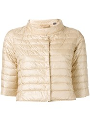 Duvetica Cropped Puffer Jacket Nude Neutrals