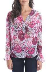 Kut From The Kloth Silvy Floral Blouse Lavender