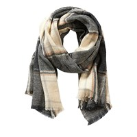 Betty Barclay And Co. Long Check Scarf Grey Beige