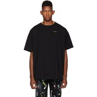 Off White Black And Yellow Painted Arrows T Shirt