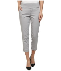 Jag Jeans Hope Bay Twill Slim Fit Crop Grey Morn Women's Casual Pants Beige