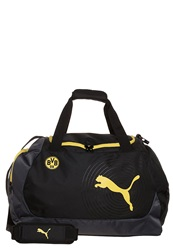 Puma Bvb Evopower Sports Bag Black Cyber Yellow