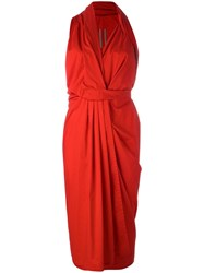 Rick Owens Limo Dress Red