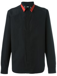 Givenchy Contrast Collar Shirt Black