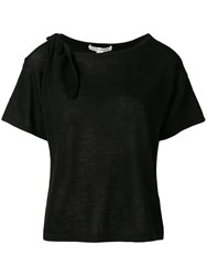 Autumn Cashmere Cut Out T Shirt Black