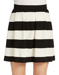 French Connection Sunshine Walk Striped Skirt Black Winter White