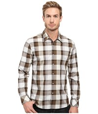 7 Diamonds Sound And Color Long Sleeve Shirt Brown Men's Long Sleeve Button Up