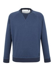 Racing Green Devon Panelled Marl Sweat Navy