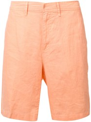 Onia Abe Linen Shorts Yellow Orange