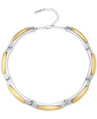 T Tahari Two Tone Collar Necklace