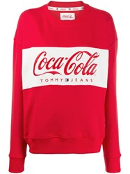 Tommy Jeans X Coca Cola Sweatshirt Red