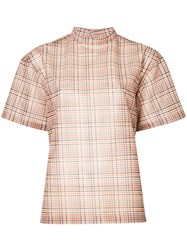 Toga Pulla Checked Blouse Pink And Purple