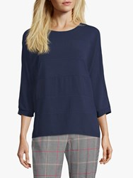 Betty Barclay Crepe And Jersey Top Navy Blue