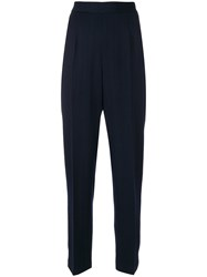 Moschino Vintage Classic Tapered Trousers Blue