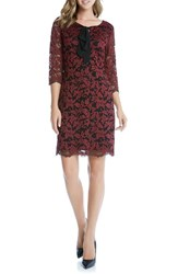 Karen Kane Women's Tie Neck Lace Shirt Dress