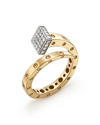 Roberto Coin 18K Yellow And White Gold Pois Moi Chiodo Ring With Diamonds 100 Bloomingdale's Exclusive White Gold