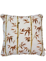 Poodle And Blonde Square Money Tree Tobacco Sky Pillow Multicolor