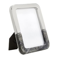 Anna New York Dual Photo Frame 5X7 Carnico Marble Silver