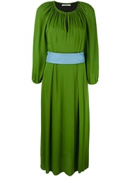 Dorothee Schumacher Shift Midi Dress Green