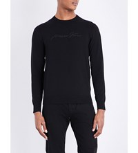 Armani Jeans Crewneck Knitted Jumper Black