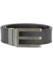 Etro Arabesque Detail Belt Black