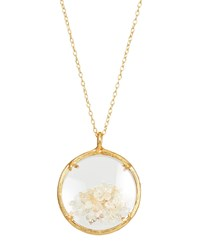 Catherine Weitzman Shaker Birthstone Pendant Necklace November