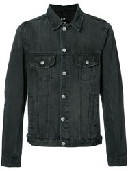 Ksubi Stonewashed Denim Jacket Men Cotton Xl Black