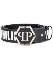 Philipp Plein Black Logo Belt