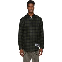 Alexander Wang Green And Black Player Id Classic Flannel Shirt