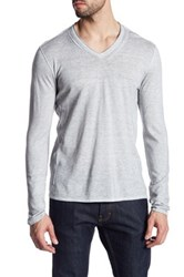 John Varvatos Long Sleeve V Neck Pullover Gray