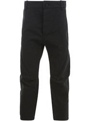 Cedric Jacquemyn Cropped Tailored Trousers Black