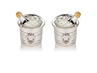 Jan Leslie Men's Champagne Bucket Cufflinks Silver