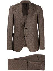 Tagliatore Formal Two Piece Suit Brown