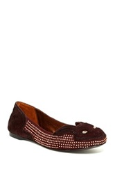 Ivy Kirzhner Bonkers Genuine Calf Hair Slip On Red