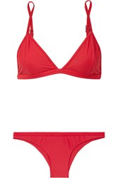 Haight Triangle Bikini Red