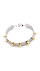 Joomi Lim Small Necklace With Spheres Rhodium Gold