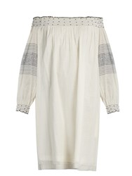 Velvet By Graham And Spencer Deandria Off The Shoulder Cotton Dress Cream