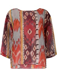 Forte Forte Abstract Print Blouse Red