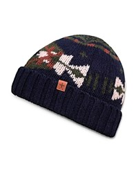 Bickley And Mitchell Fair Isle Beanie Navy