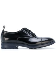 Emporio Armani Lace Up Shoes Calf Leather Leather Rubber Black