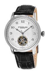 Stuhrling Men's Perennial 781 Automatic Alligator Embossed Genuine Leather Watch Metallic