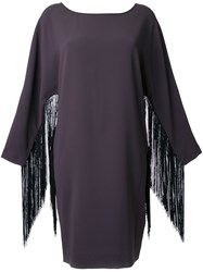 Steffen Schraut Fringed Sleeve Dress Grey