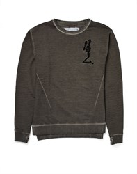 Religion Jumper In Washed Cotton Grey