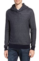 Bonobos Cotton And Cashmere Hoodie Midnight Blue Heather Silver