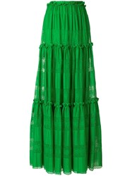 Capucci Maxi Full Skirt Green