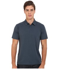Rvca Sure Thing Ii Polo Midnight Men's Short Sleeve Knit Navy