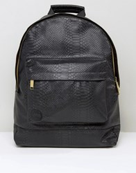 Mi Pac Python Backpack In Faux Leather Black Black