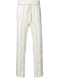 Haider Ackermann Striped Trousers White