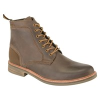 Barbour Byker Leather Boots Dark Brown